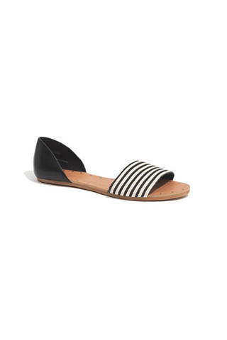 Madewell The Thea Sandal in Ticking Stripe, $98