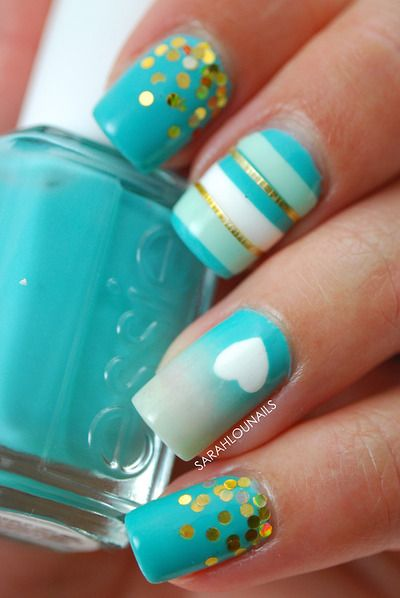 Mint Nail Design Idea