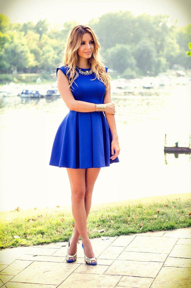Navy Blue Short Dress