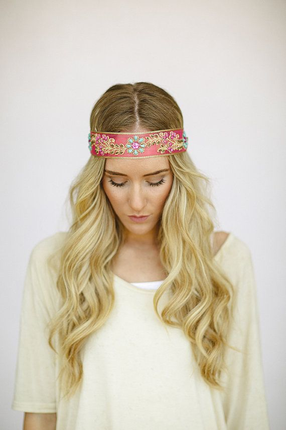 Ombre Blonde Hair with Indian Headband