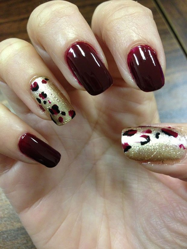 Nail designs burgundy and gold burgundy nail designs you can try nail designs burgundy and gold glowing golden nail designs for pretty prinsesfo Choice Image