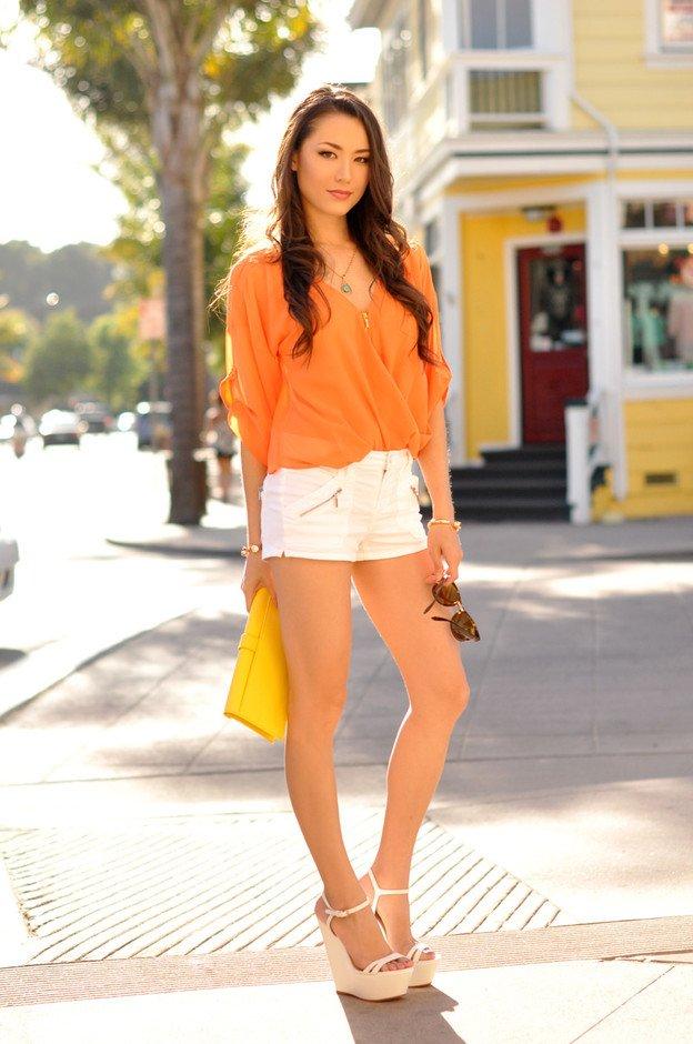 Orange Shirt and White Shirts