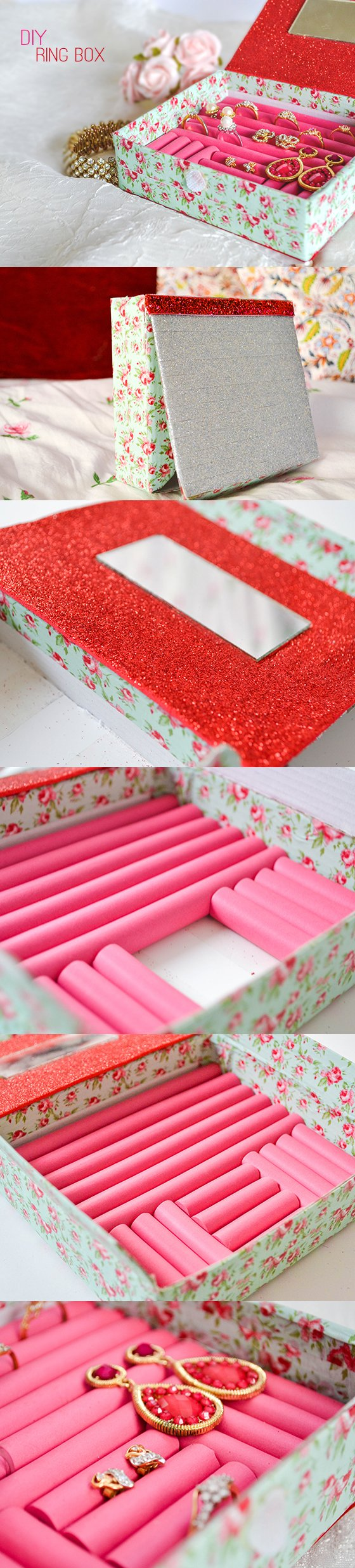 Diy projects how to make ring organizers pretty designs paper box solutioingenieria Images