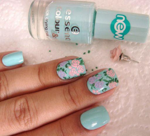 20 pretty nail designs for this new season pretty designs pastel blue nail design prinsesfo Choice Image