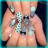 Pastel Blue Stiletto Nails