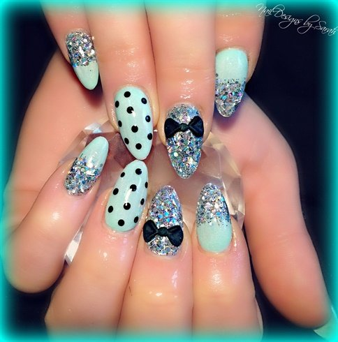 15 Fabulous Stiletto Nail Ideas on easy home nail designs