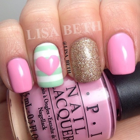 Patel Pink Nail Design Idea