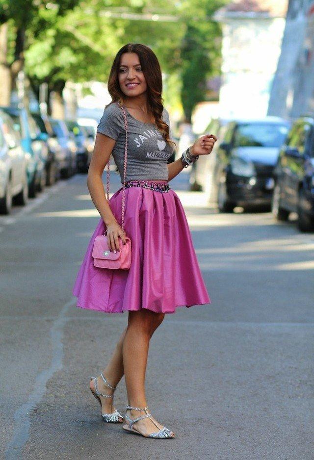 Pink Baguette Bag