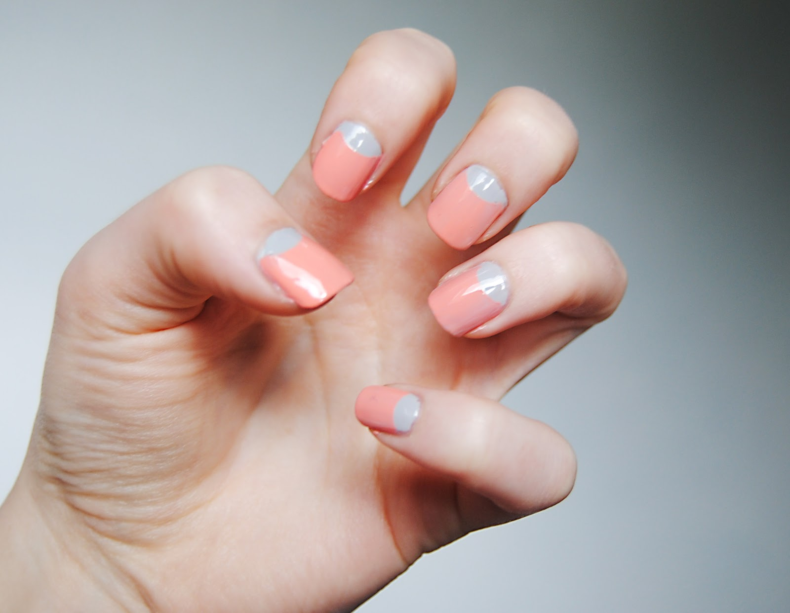 Pink and Sliver Nails