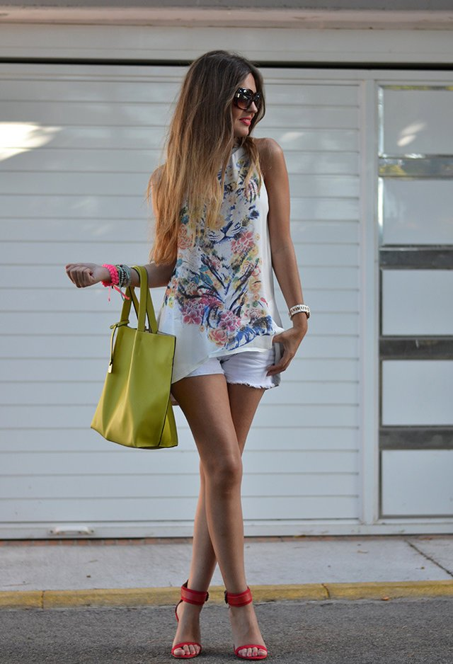 Pretty Printed Outfit for Summer
