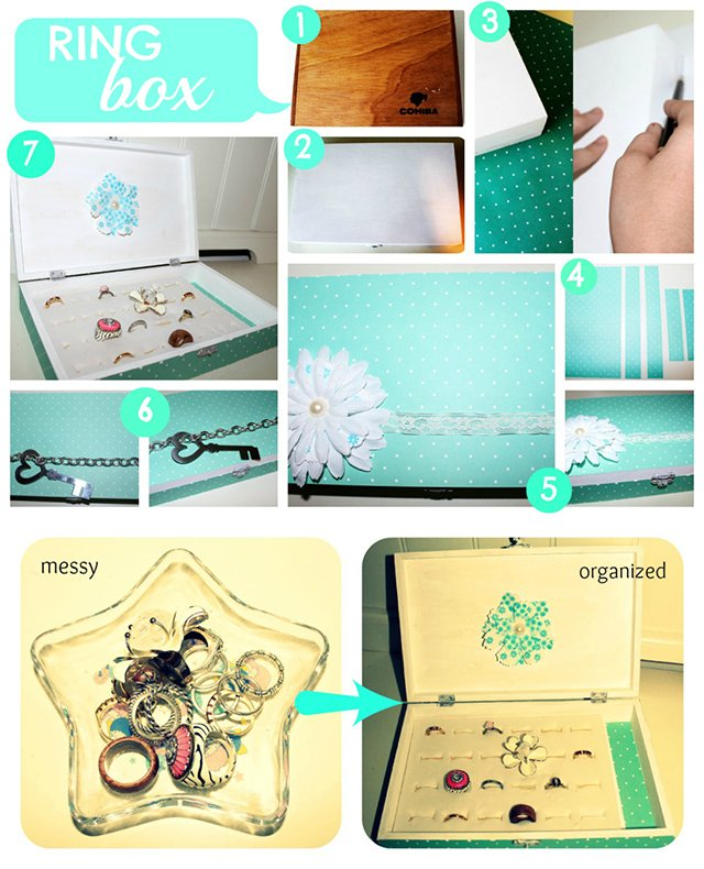 Diy projects how to make ring organizers pretty designs pretty ring box solutioingenieria Images