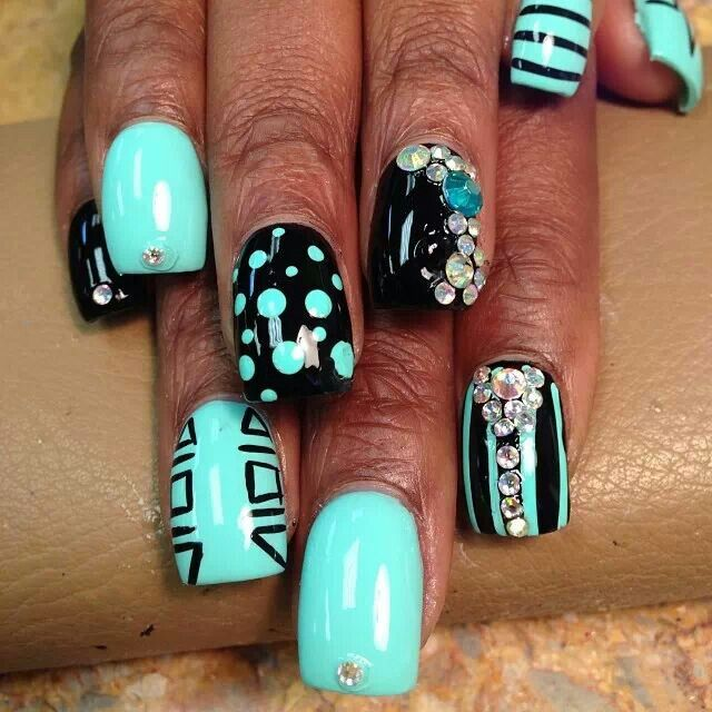 Pretty Teal Nails - 15 Teal Nail Designs - Pretty Designs