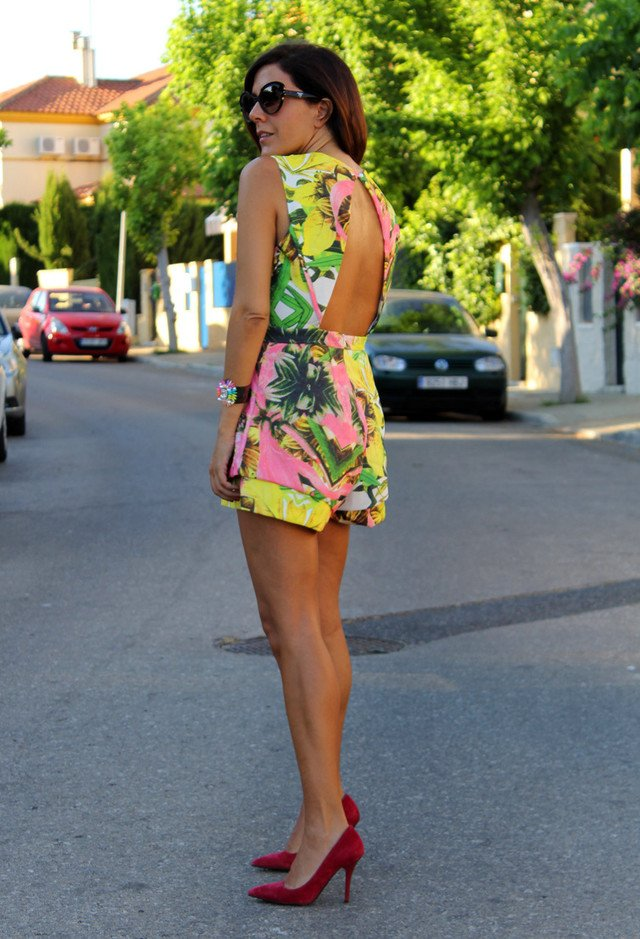 Printed Jumpsuit Outfit in Bright Colors