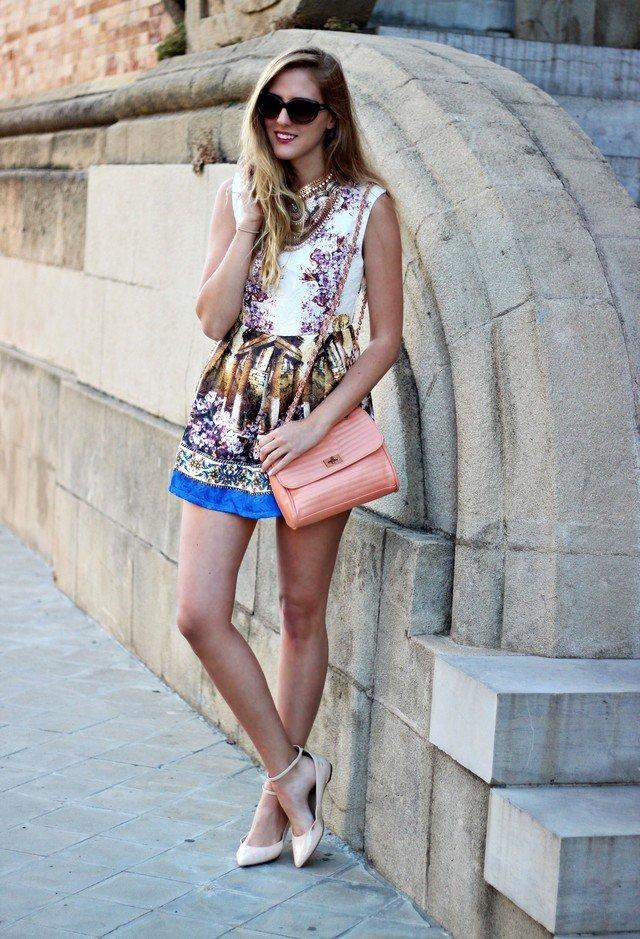 Printed Short Dress for Summer