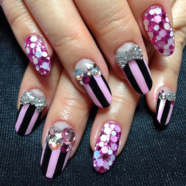Purple 3D Nails - 3D Nail Designs For This Week - Pretty Designs