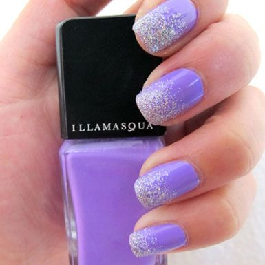 17 gradient nail designs for this week pretty designs purple glitter nails prinsesfo Image collections