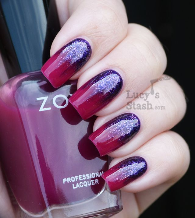 Purple to Red Nails