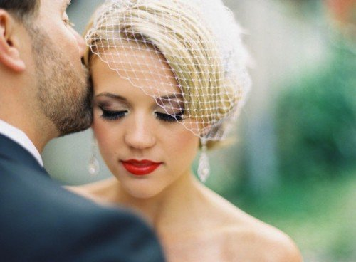 Red Lip Makeup for Wedding