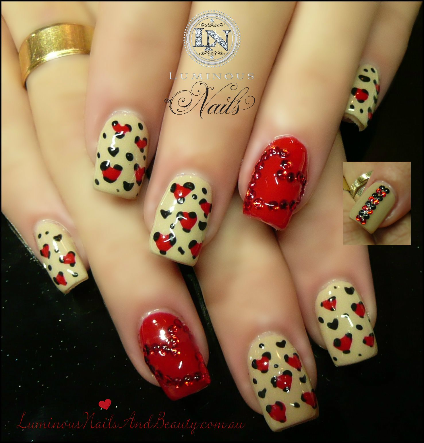 Nail Designs Red Heart : Pretty nail designs for this new season
