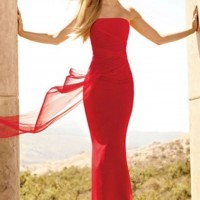 Romantic Red Long Dress