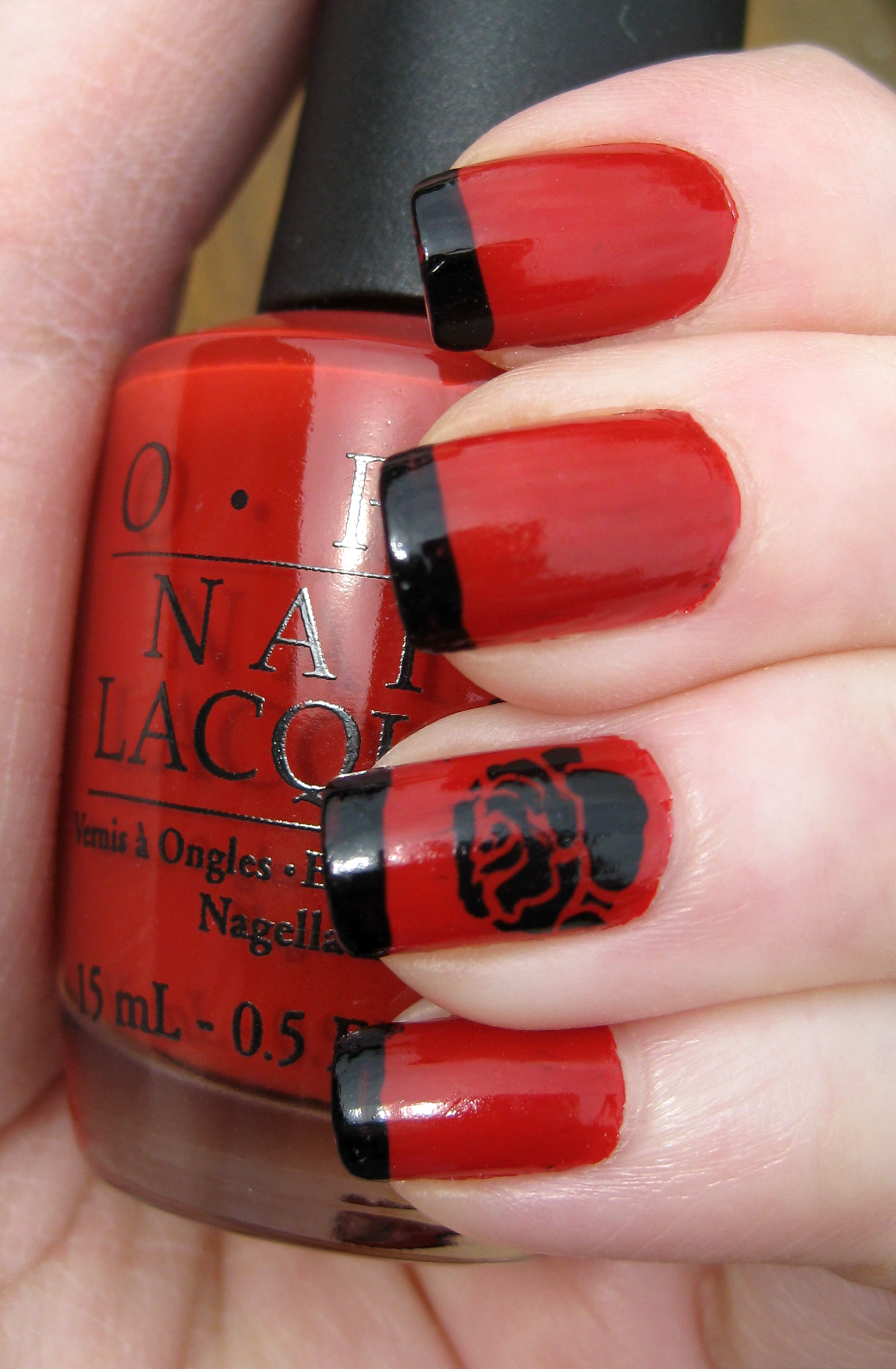 Red and black nails for you to try pretty designs rose nails prinsesfo Gallery