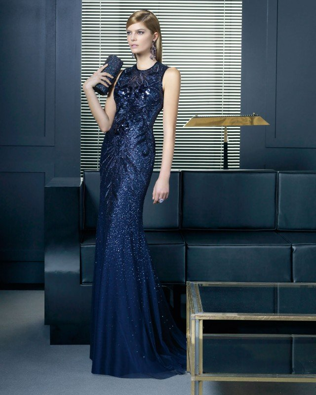 Sequined Maxi Dress by Rosa Clara