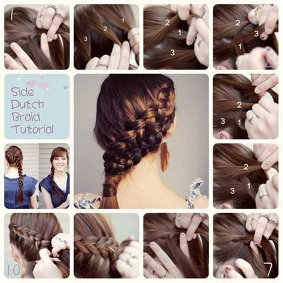 Side Dutch Braid Hair Tutorial