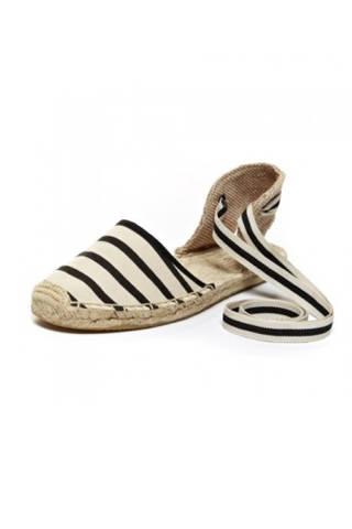 Soludos Sandal in Natural Black, $55