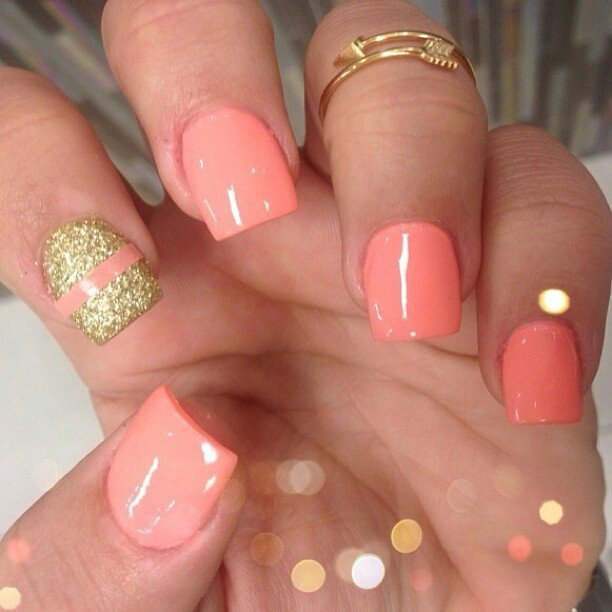 Best Summer Acrylic Nail Art Design Ideas For 2016: Amazing Coral Nail Designs For The Season