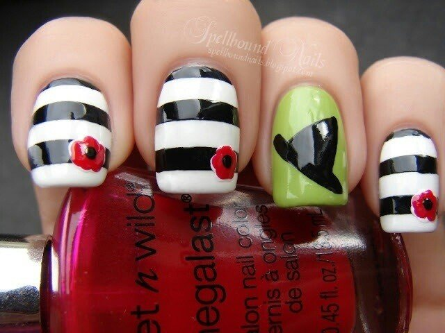 Striped Nail Design Idea