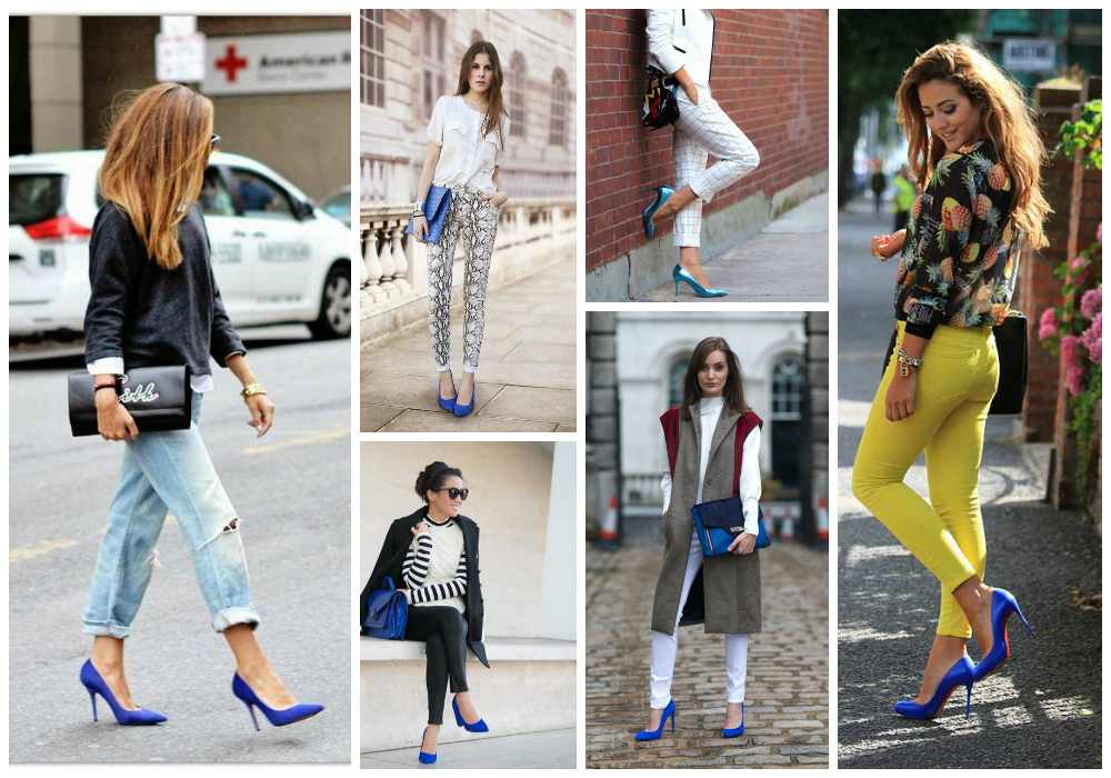 Stylish Outfit Ideas with Navy Blue Pumps