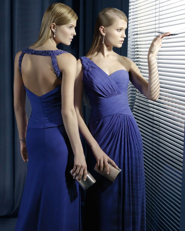 Stylish Blue Long Dresses