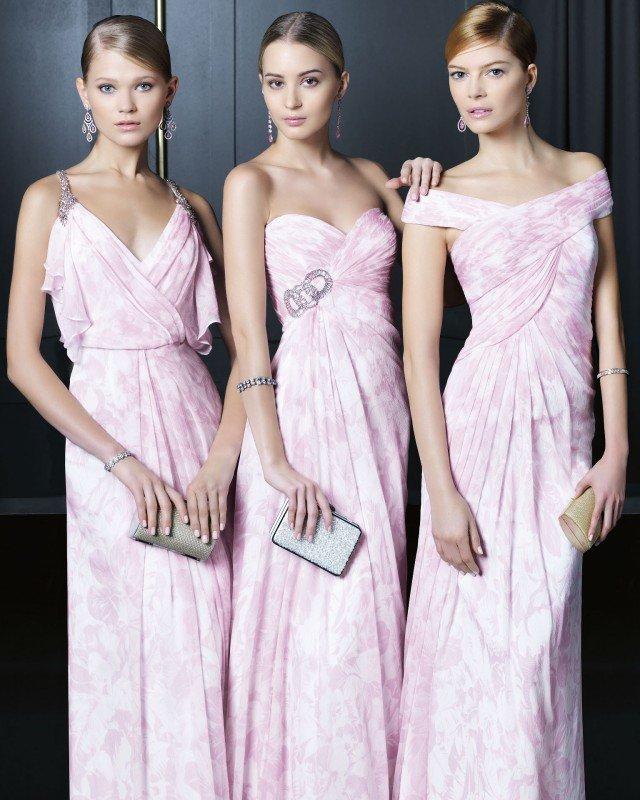 Stylish Pink Long Dresses
