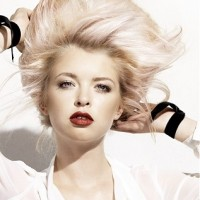 Stylish Platinum Blonde Hair