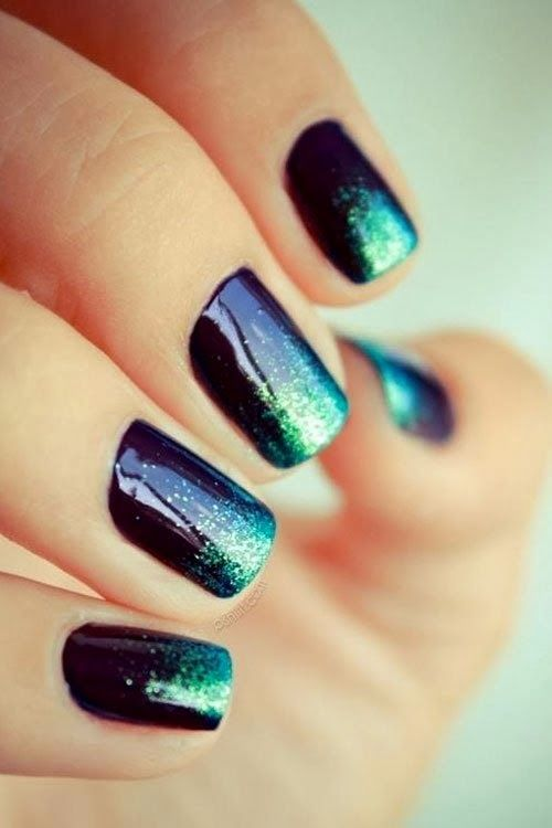 Stylish Teal Nails - 15 Teal Nail Designs - Pretty Designs