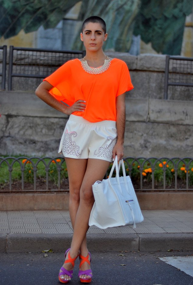 Summer Outfit with Bright Orange Shirt