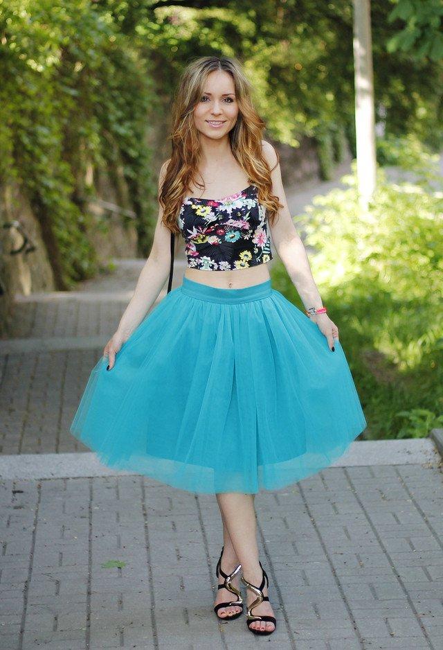 Sweet Summer Look with Flower Printed Top