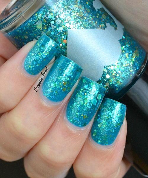 Oval Nails Design Tumblr 15 Teal Nail Designs -...