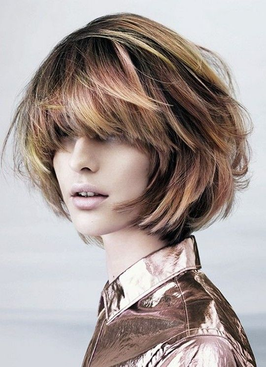 Textured Bob Hairstyle for Thick Hair