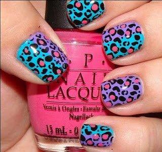 17 trendy animal print nails pretty designs two colored animal print nail art design prinsesfo Images