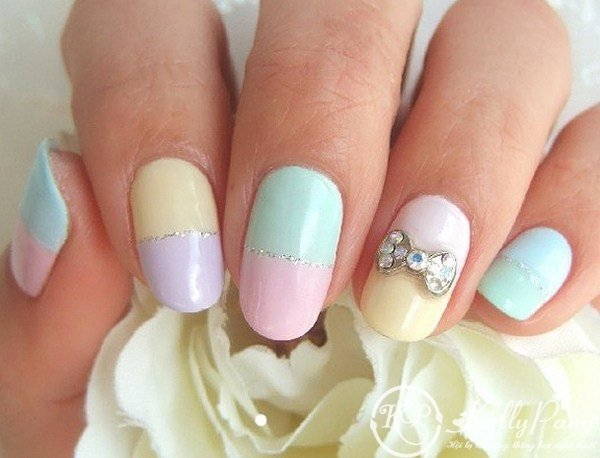 Two-Colored Nail Design
