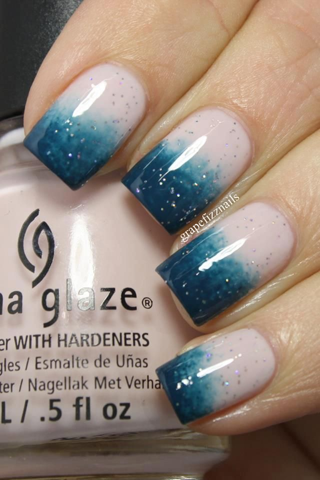 Two-tone Nails - 17 Gradient Nail Designs For This Week - Pretty Designs - Two Tone Nail Designs Graham Reid