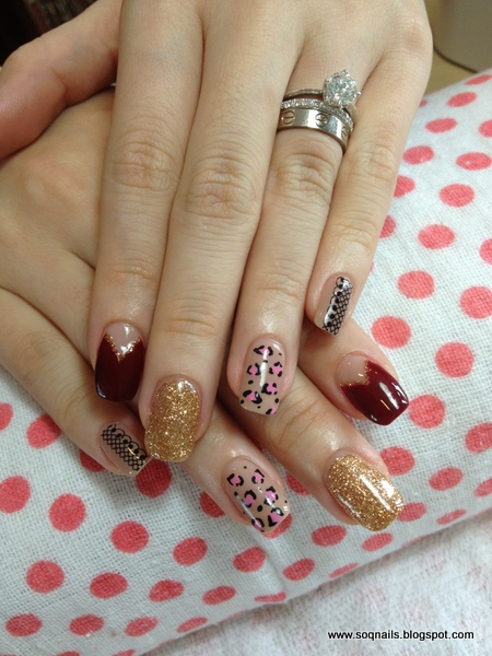 Understated Mismatched Nail Designs