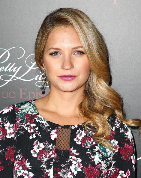 Vanessa Ray Side-swept Hairstyle