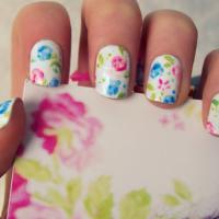 White Floral Nail Design