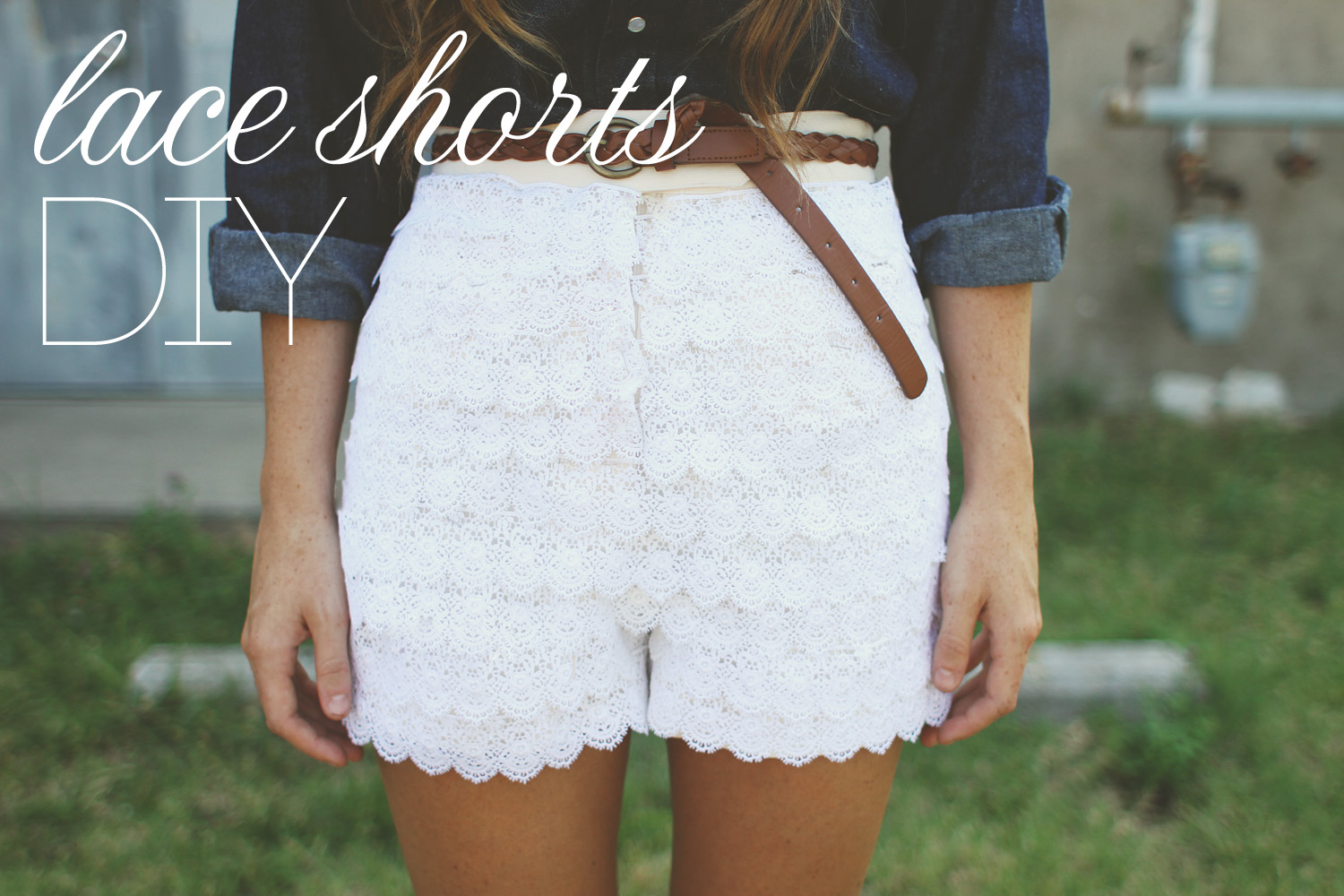 how to make lace shorts diy shorts projects pretty designs