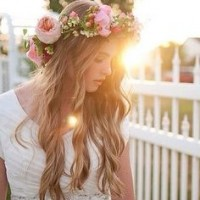 Wonderful Holiday Look with Flower Crown