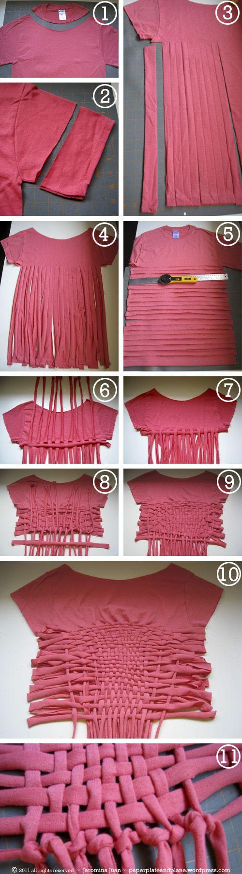 Upgrade Your T Shirts Diy Crop Tops
