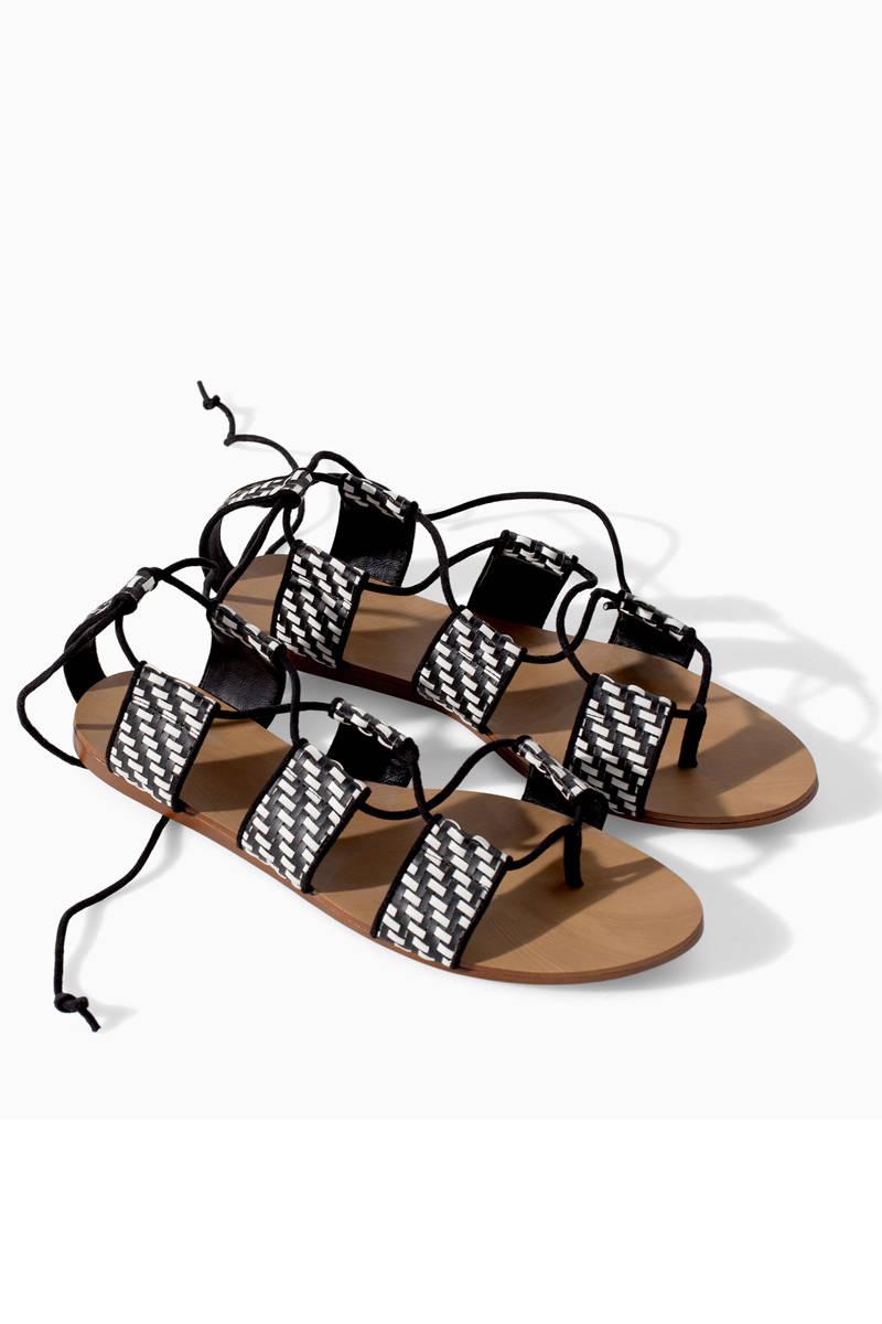Zara Braided Flat-Sole Sandal, $59.90