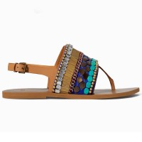 Zara Ethnic Flat Sandal, $59.90